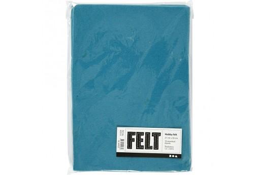 Soft Felt Turquoise 2mm 21x30cm 10 sheets