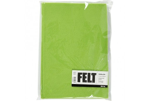 Soft Felt Light Green 2mm 21x30cm 10 sheets