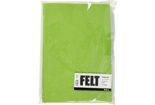 Soft Felt Light Green 2mm 21x30cm 10 sheets