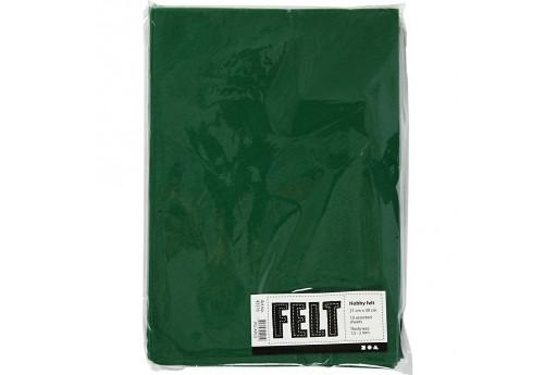Soft Felt Green 2mm 21x30cm 10 sheets