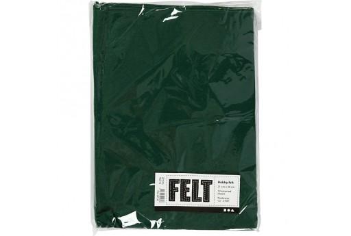 Soft Felt Dark Green 2mm 21x30cm 10 sheets