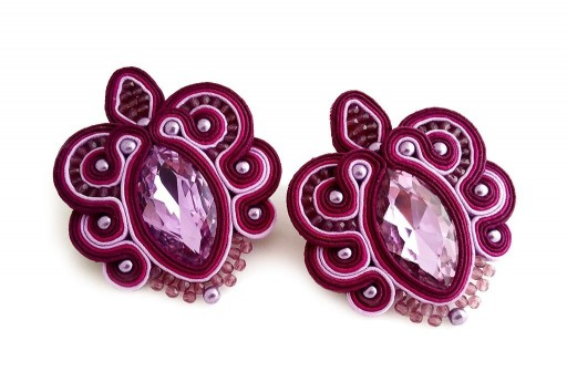 Soutache Earrings Orchidea Kit by Arianna Bruzzi