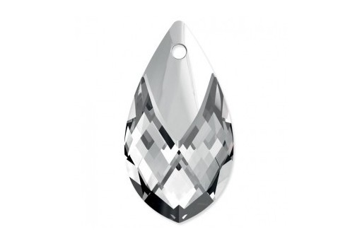Metal Cup Pear-Shaped Swarovski 6565 Crystal Light Chrome 18mm
