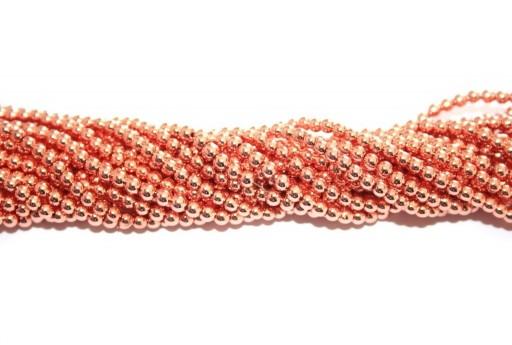 Pietre Dure Hematite Sfera - Oro Rosa 3mm - 140pz