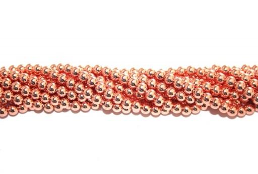 Pietre Dure Hematite Sfera - Oro Rosa 4mm - 98pz