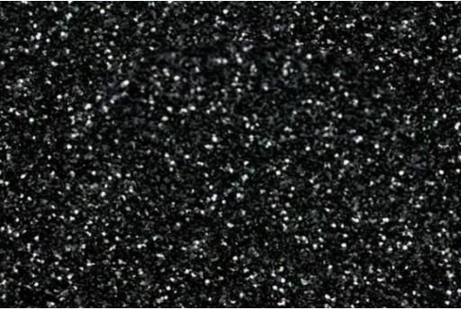 Gomma Crepla Glitter Nera 1 Foglio A4 2mm