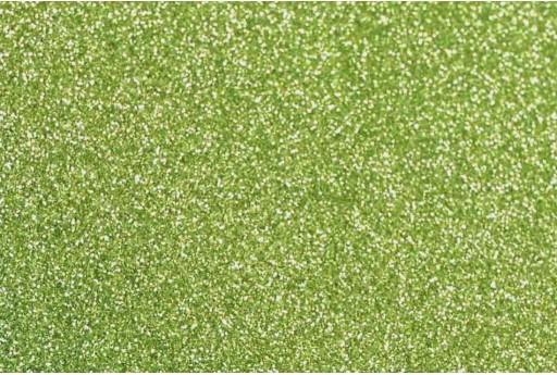 Gomma Crepla Glitter Verde Chiaro 1 Foglio A4 2mm