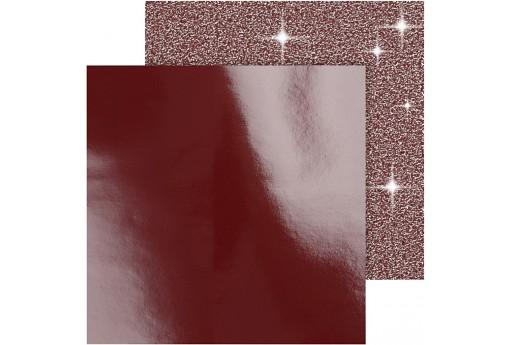 Carta Glitter e Laccata Rossa 30x30cm 2pz.