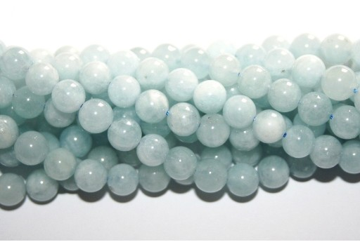 Aquamarine Round Beads 6mm - 60pcs