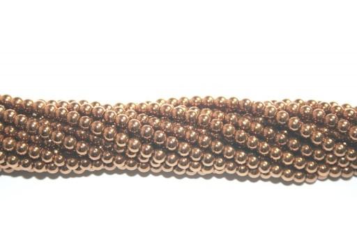 Pietre Dure Hematite Sfera - Bronzo 4mm - 104pz