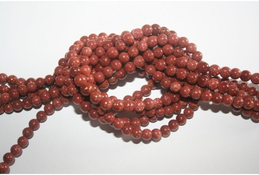 Goldstone Round Bead Strand 6mm 64pcs GS2