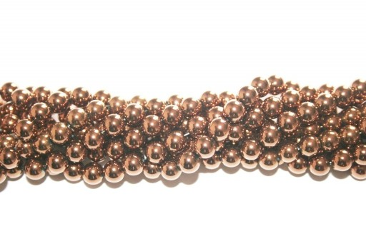 Bronze Color Plated Hematite Round Beads 6mm - 68pcs