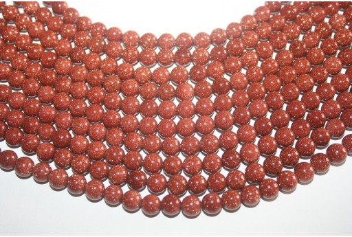 Goldstone Round Bead Strand 8mm 48pcs GS3