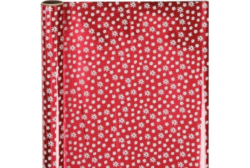 Wrapping Paper Red with Doodle Stars 50cm x 4mt