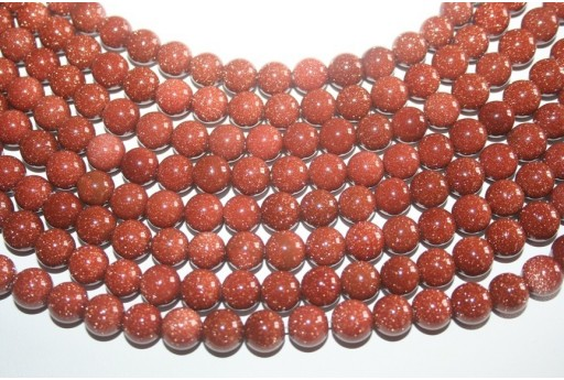 Filo 38 Pietre Goldstone Sfera 10mm GS4