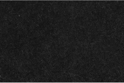 Soft Felt 1,5mm Melange Black 45cm x 1mt