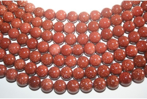Goldstone Round Bead Strand 12mm 32pcs GS5