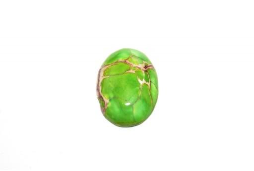 Cabochon Jasper Impression Verde Chiaro - Ovale 18x25mm