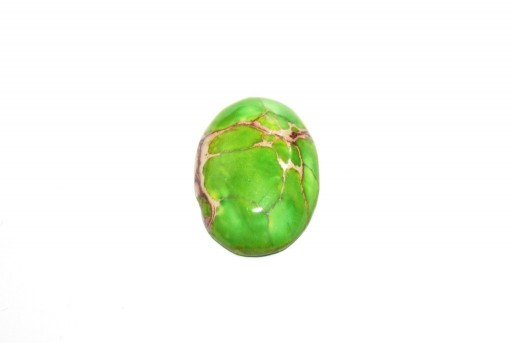 Dyed Impression Jasper Cabochon Light Green - Oval 18x25mm