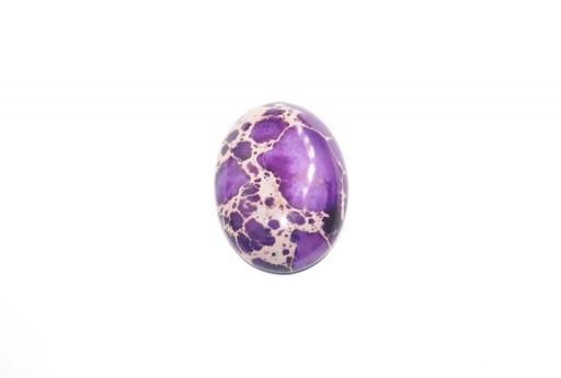 Cabochon Jasper Impression Viola - Ovale 18x25mm
