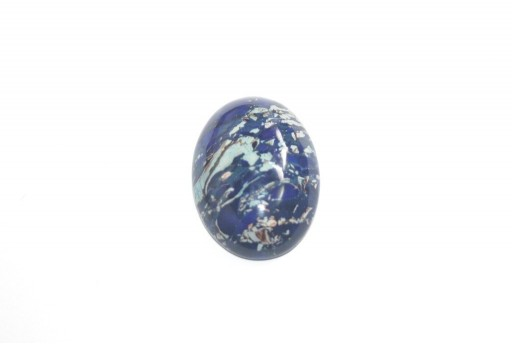 Cabochon Jasper Impression Blue - Ovale 18x25mm