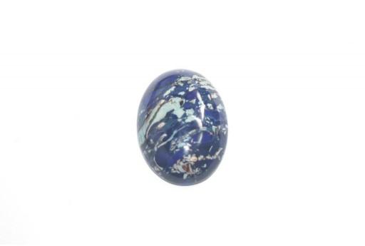 Cabochon Jasper Impression Blue - Ovale 18x25mm