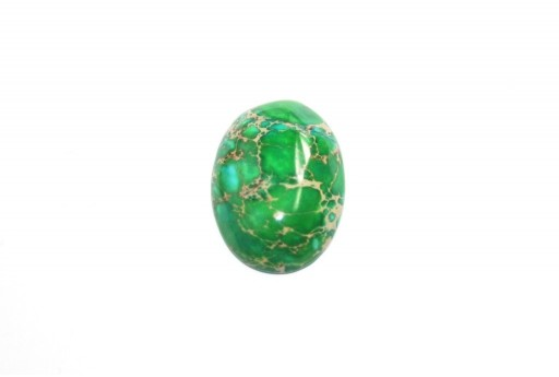 Dyed Impression Jasper Cabochon Green - Oval 18x25mm