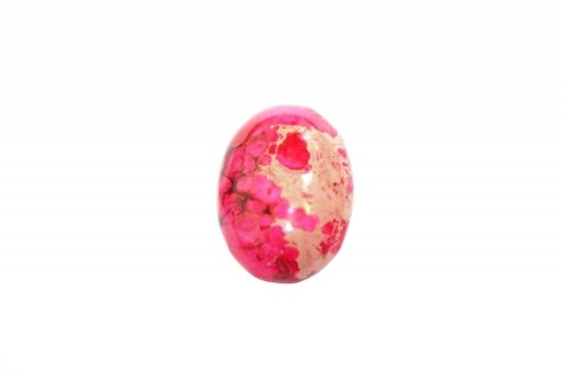 Cabochon Jasper Impression Rosa - Ovale 18x25mm