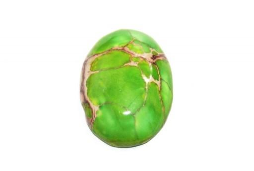 Cabochon Jasper Impression Verde Chiaro - Ovale 22x30mm