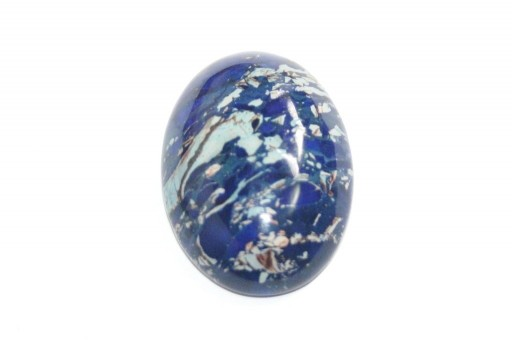 Cabochon Jasper Impression Blue - Ovale 22X30mm