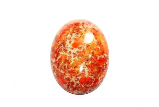 Dyed Impression Jasper Cabochon Orange - Oval 22X30mm