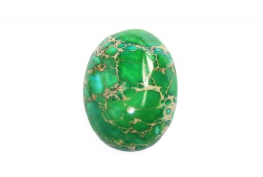 Dyed Impression Jasper Cabochon Green - Oval 22X30mm