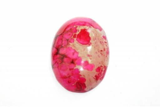 Dyed Impression Jasper Cabochon Pink - Oval 22X30mm