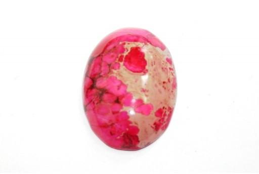 Cabochon Jasper Impression Rosa - Ovale 22X30mm