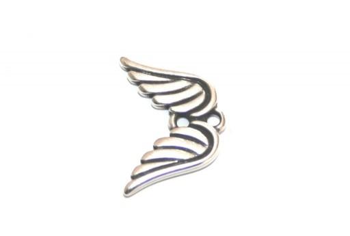 Metal Angel Wings Link - Silver 12x17mm - 2pcs
