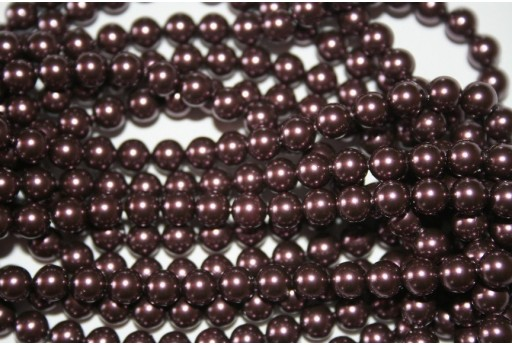 Swarovski Pearls 5810 Crystal Burgundy 6mm - 12pcs