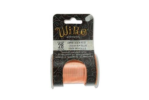 Lacquered Tarnish Resistant Wire Copper 28ga - 40yd