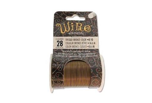 Filo di Rame Colore Vintage Bronze 0,32mm - 36,6mt
