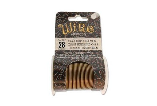 Lacquered Tarnish Resistant Wire Vintage Bronze 28ga - 40yd