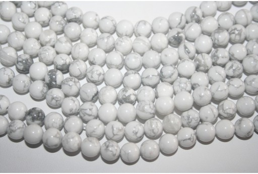Filo 48 Pietre Howlite Bianco Sfera 8mm HOW4