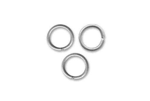 Brass Jump Ring Silver 8x1,2mm - 25pcs