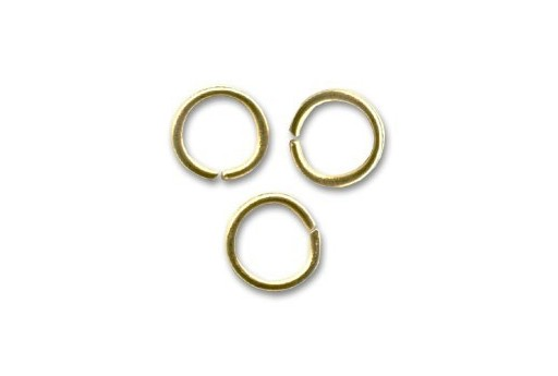 Brass Jump Ring Gold 8x1,2mm - 25pcs
