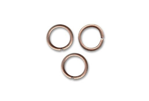 Brass Jump Ring Rose Gold 8x1,2mm - 25pcs