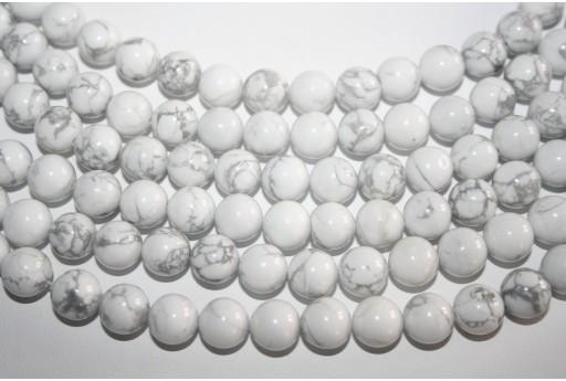 Howlite Beads White Sphere 10mm - 38pz