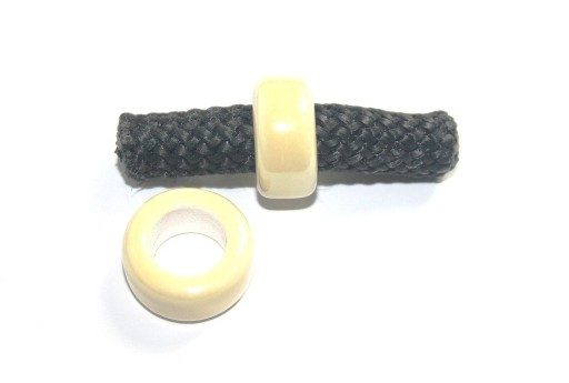 Climbing Ceramic Slider Bead Light Yellow 9x20mm - 2pcs