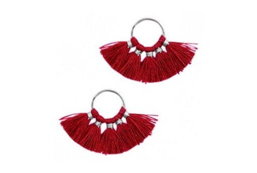 Tassel Fan Red 28x11mm - 1pcs