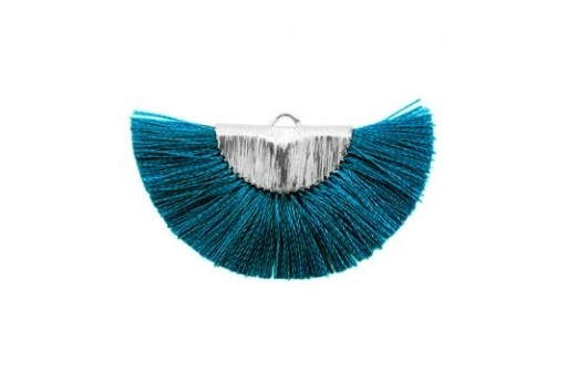 Tassel Fan Petrol-Blue 46x25mm - 1pcs
