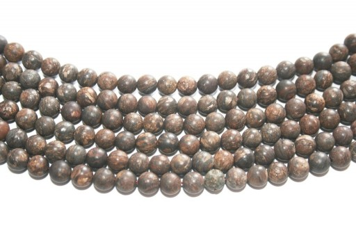 Bronzite Matte Round Beads 6mm - 58pcs