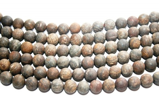 Bronzite Matte Round Beads 8mm - 46pcs