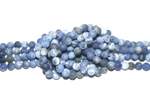 Sodalite Matte Round Beads 6mm - 62pcs